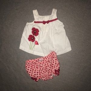 Gymboree Top and Bloomers Set